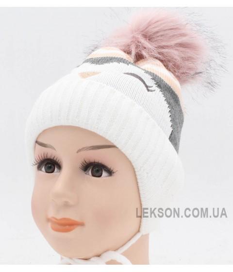 Детская вязаная шапка Молли D46327-44-48