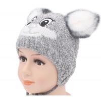 Детская вязаная шапка Зайка D43026-46-50