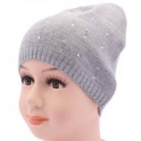 Детская вязаная шапка Стразы DV1219-44-48