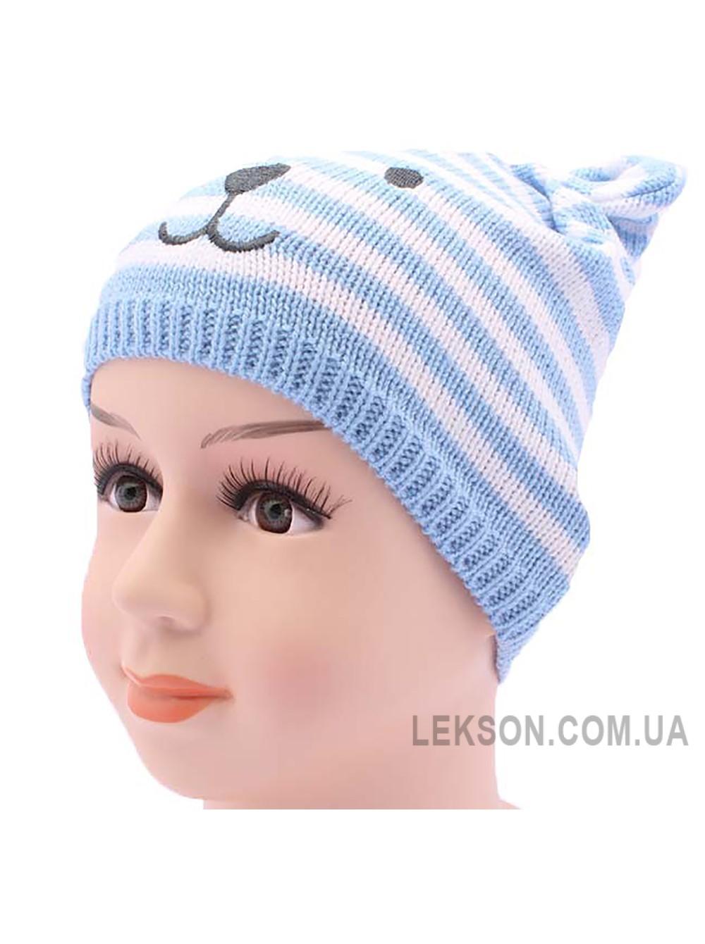 Детская вязаная шапка Панда DV2018-42-46
