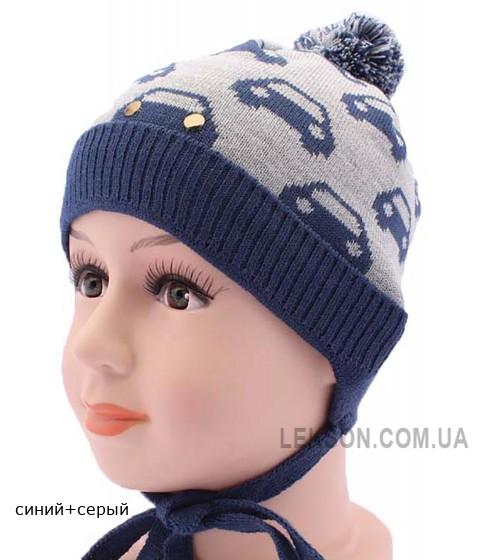 Детская вязаная шапка Машинка DV617-44-48