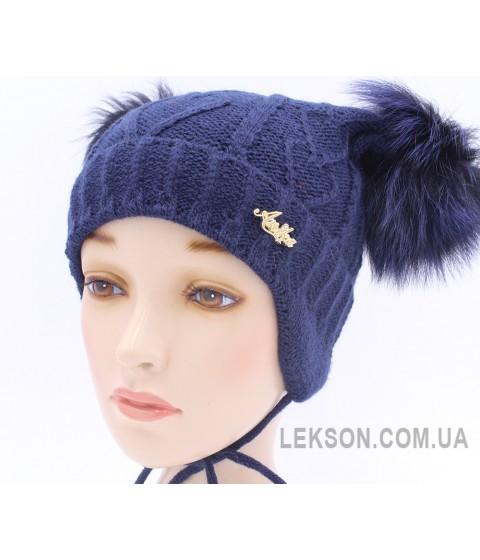 Детская вязаная шапка Адель