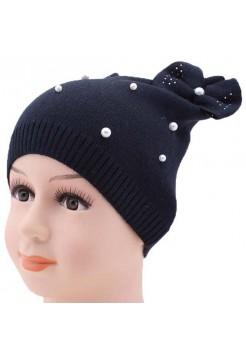 Детская вязаная шапка Жемчуг