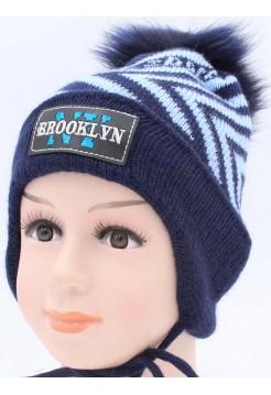 Детская вязаная шапка Бруклин