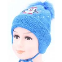 Детская вязаная шапка Пингвинчик