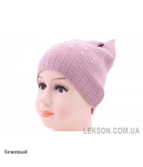 Детская вязаная шапка 130220-52-54