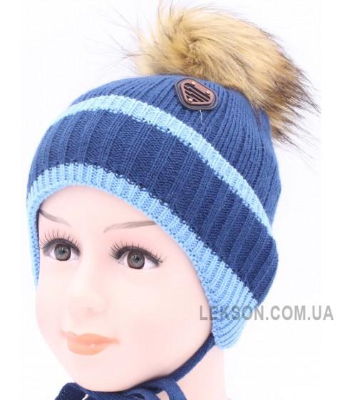 Детская вязаная шапка BVW01726-48-54