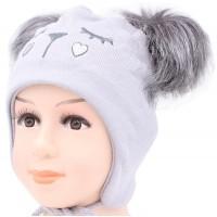 Детская вязаная шапка Анимэ D56336-46-48