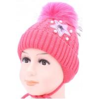 Детская вязаная шапка Звездочка D52533-42-46