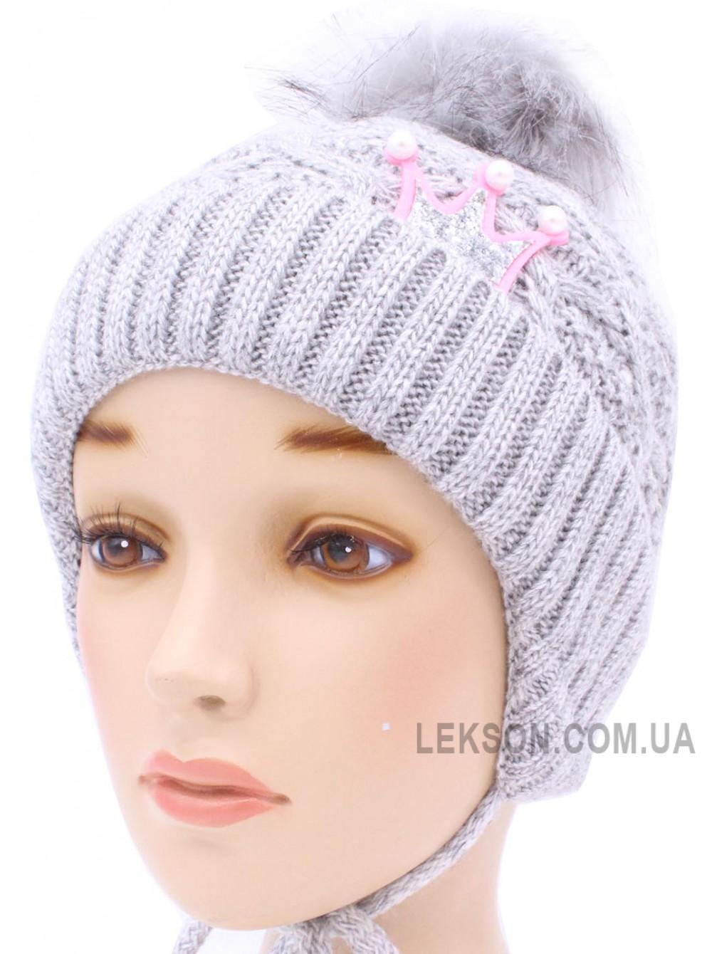 Детская вязаная шапка Кристи D54733-48-52