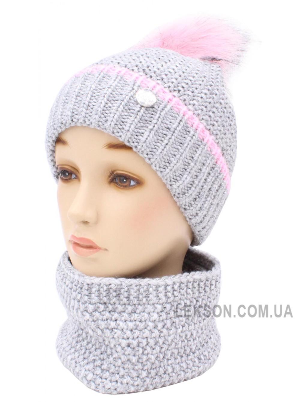 Детская вязаная шапка Мила D53651-46-50
