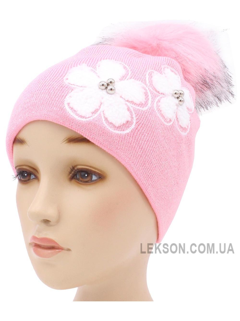 Детская вязаная шапка Ромашка D57133-48-52