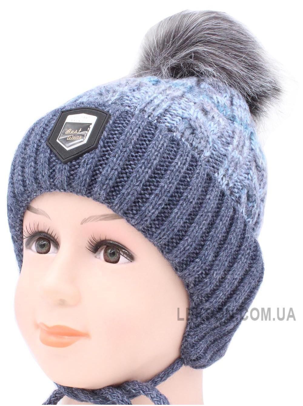 Детская вязаная шапка Брайн D50134-44-48