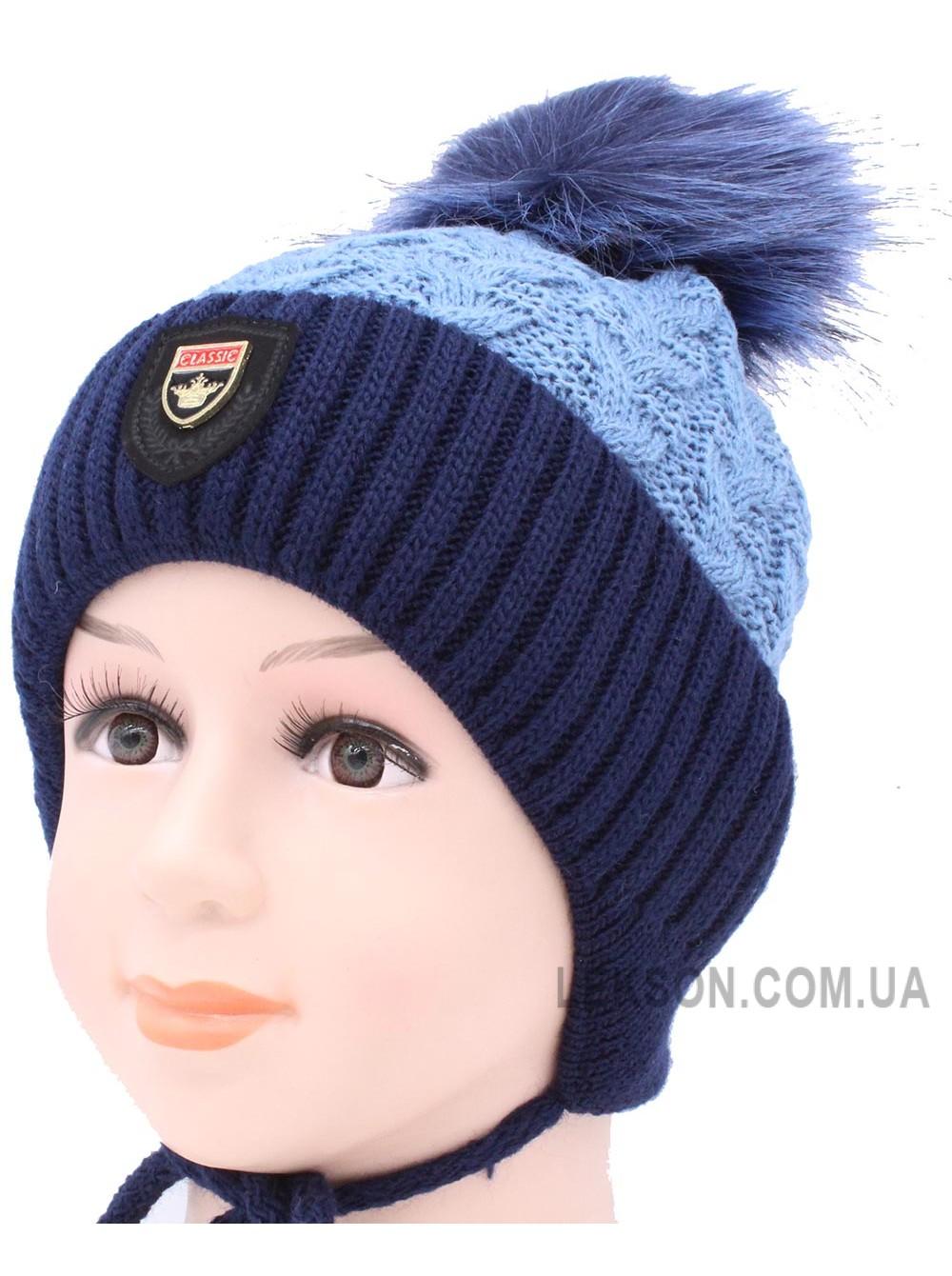 Детская вязаная шапка Кинг D51633-46-50