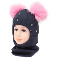 Детский вязаный шлем Доминика W-7d-59-50-52