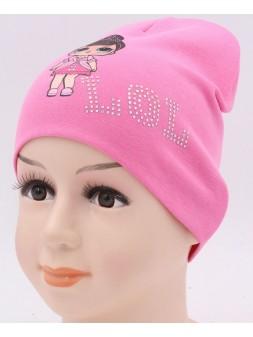 Детская трикотажная шапка ЛОЛ Двойная