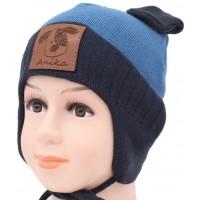 Детская вязаная шапка Гуфи F-67m-27-44-46