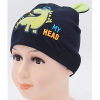 Детская трикотажная шапка Дино