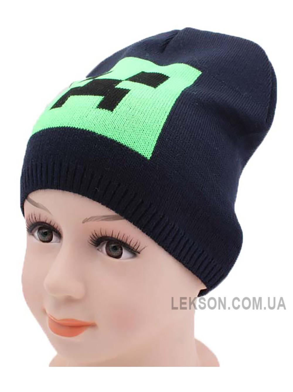детская вязаная шапка крипер весна купить шапки в интернет