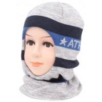 Детский вязаный шлем Атлетик W-1m-45-52-54
