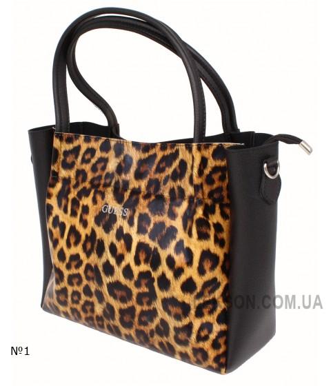 Женская модельная сумка Guess кожзам 34х28х13 - Gu105-117