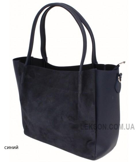Женская модельная сумка Guess кожзам+замш 37х28х13 - Gu104-143