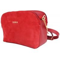 Женская модельная сумка Zara  замш+кожзам  24х18х11 - Za102-120