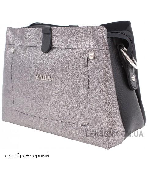Женская модельная сумка Zara кожзам 26х20х11 - Za103-97