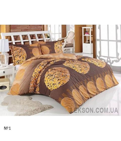 Комплект постельного белья Arya ранфорс Anemon Kahve №9376