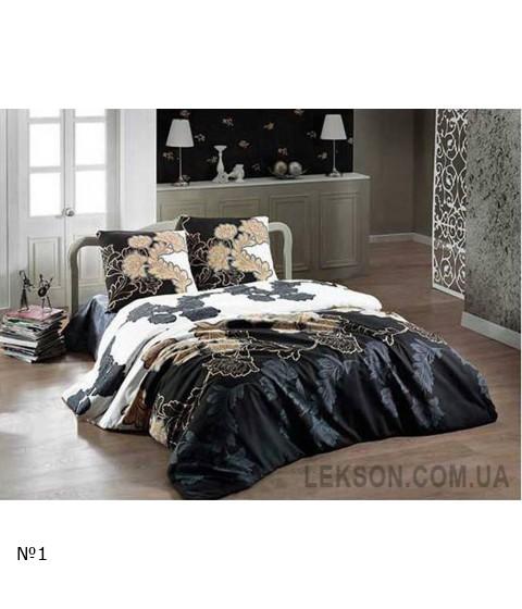 Комплект постельного белья Arya ранфорс Floblack Gri №9377