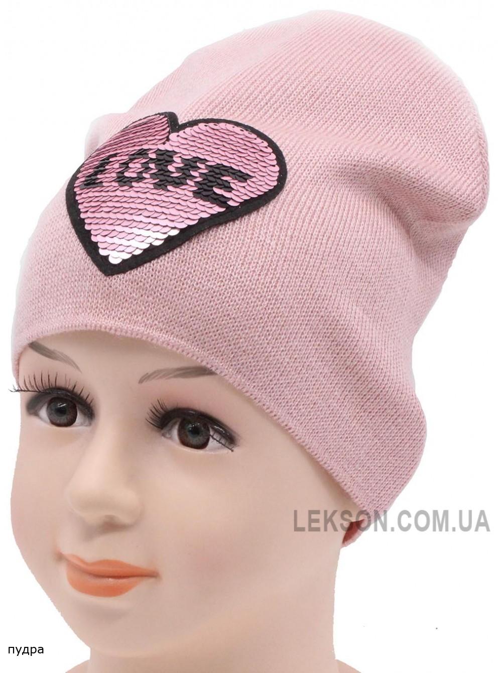Детская вязаная шапка Лав DV10622-46-50