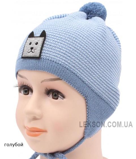 Детская вязаная шапка Песик DV11629-42-46