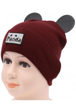 Детская вязаная шапка Панда DV11732-44-48