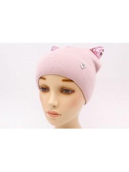 Детская вязаная шапка D689305-46-50 Сабина