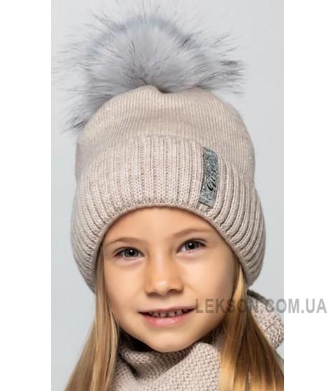 Детская вязаная шапка D631285-48-52 Каролина