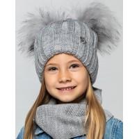 Детская вязаная шапка D669340-50-54 Лера