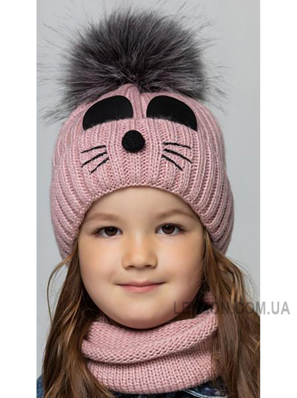 Детская вязаная шапка D691305-46-50 Элли