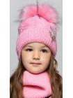 Детская вязаная шапка D602315-44-48 Кроха