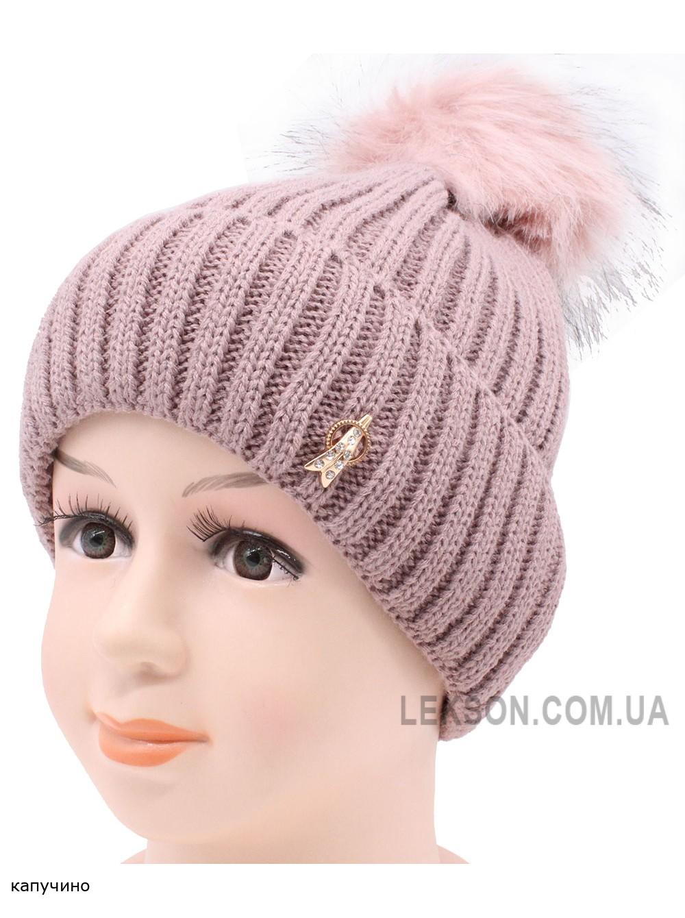 Детская вязаная шапка №24190-54-56