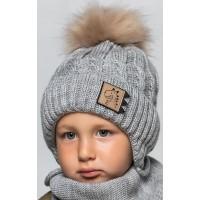 Детская вязаная шапка D600295-48-52 Рекс