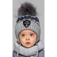 Детская вязаная шапка D623295-46-50 Дизайн