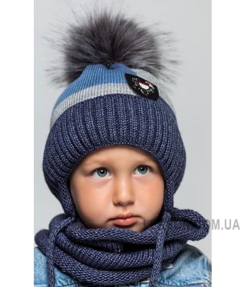 Детская вязаная шапка D625295-48-52 Квадрат