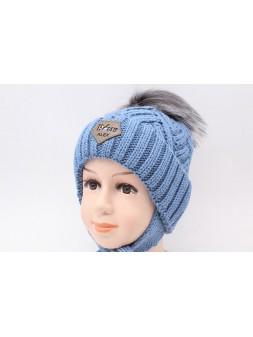 Детская вязаная шапка D653305-46-50 Оскар