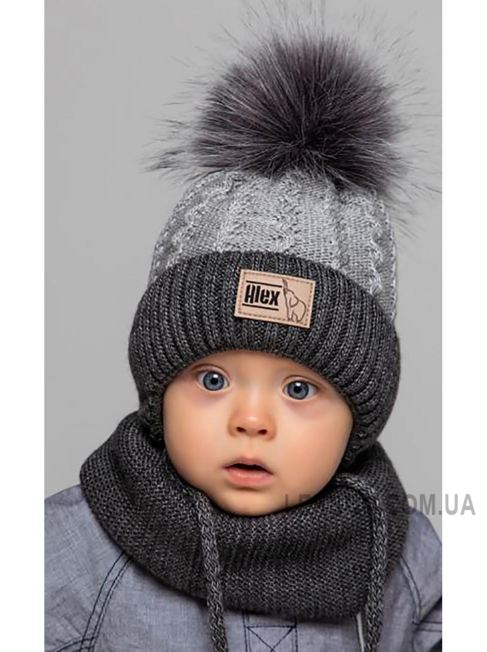 Детская вязаная шапка D668295-42-46 Малюк