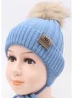 Детская вязаная шапка D682295-44-48 Лео