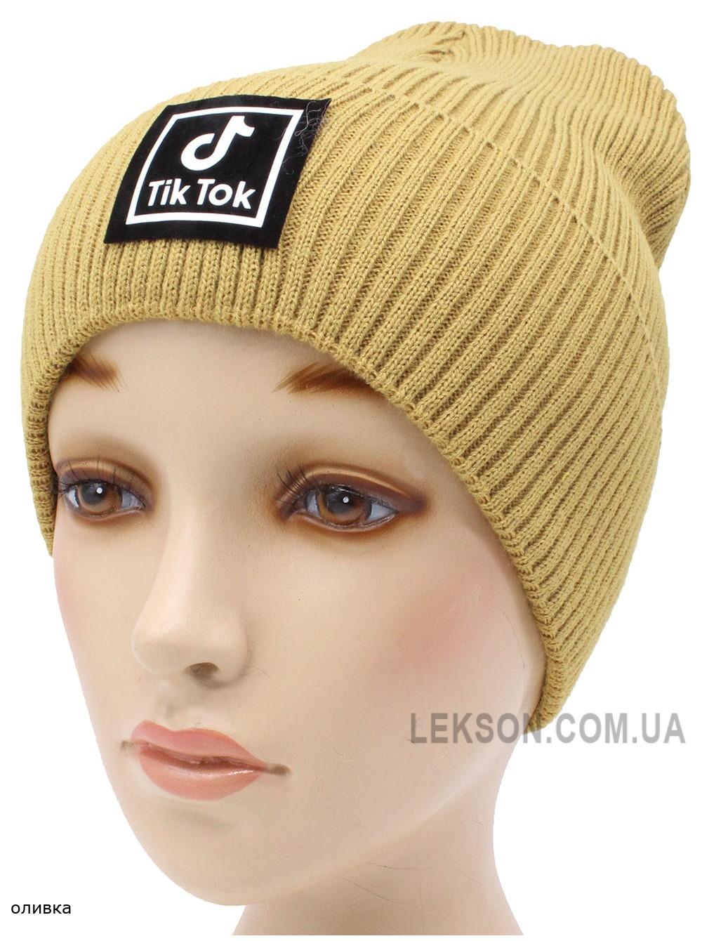 Детская вязаная шапка №58120 тик ток-54-56 №3