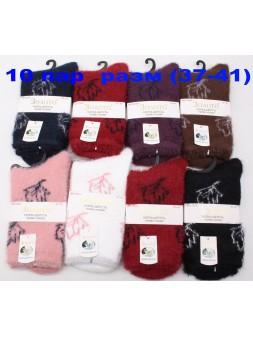 Носки зима-w608-355105 (Норка+шерсть)