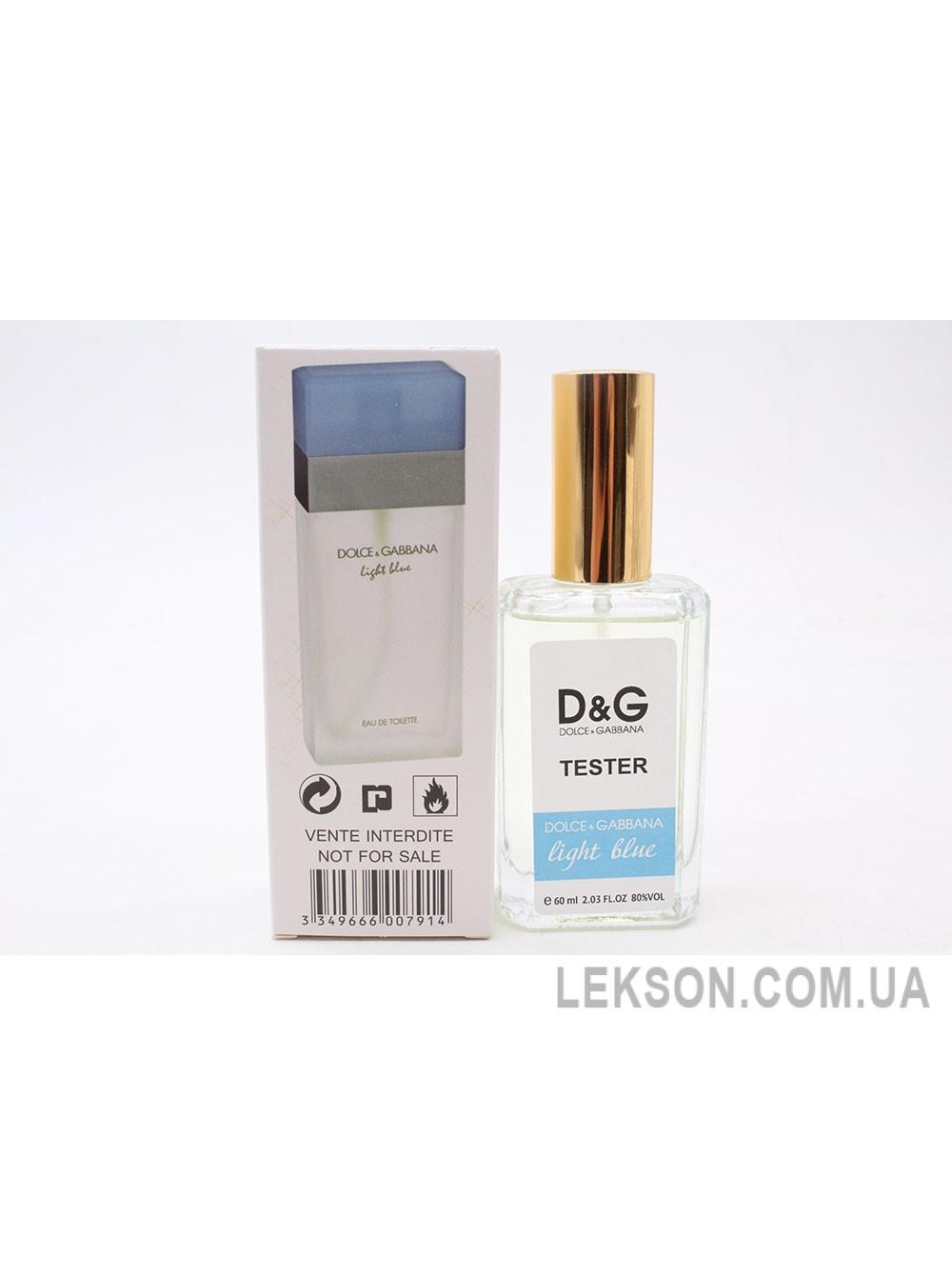 Женский парфюм тестер: Dolce gabbana light blue pour homme 60мл