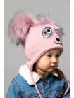 Детская вязаная шапка Панда D77233-44-48