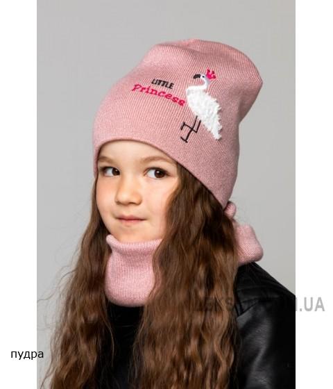 Детская вязаная шапка Фламинго D76330-46-50